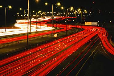 Traffic on Highway  Toronto, Ontario, Canada