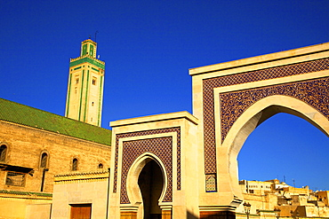 Mosque R'Cif, R'Cif Square (Place Er-Rsif), Fez, Morocco, North Africa, Africa