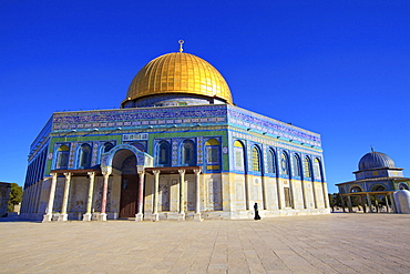 The Dome of the Rock, Temple Mount, UNESCO World Heritage Site, Jerusalem, Israel, Middle East