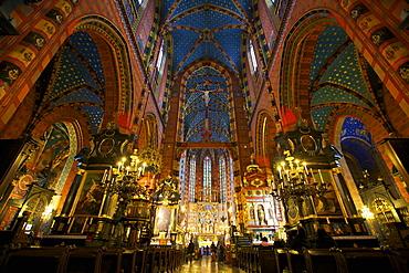 Church of St. Mary, Krakow (Cracow), Poland, Europe