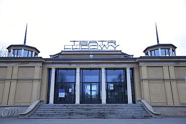 Ludowy Theatre, Communist Era architecture, Nowa Huta, Krakow (Cracow), Poland, Europe