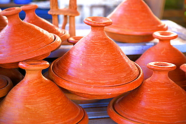 Tagine pots, Tangier, Morocco, North Africa, Africa