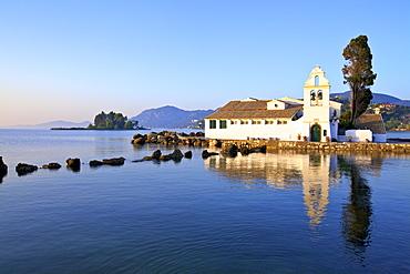 Vlacherna Monastery, Kanoni, Corfu, The Ionian Islands, Greek Islands, Greece, Europe