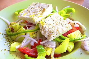 Greek Salad, The Peloponnese, Greece, Europe