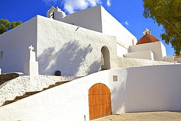Church of Santa Eularia, Santa Eularia des Riu, Ibiza, Balearic Islands, Spain, Europe