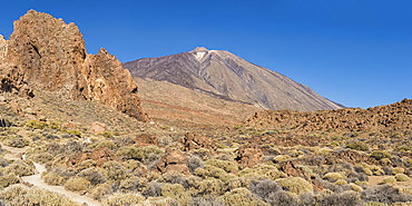 Mount Teide volcano, Teide National Park, UNESCO World Heritage Site, Tenerife, Canary Islands, Spain, Europe