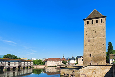 Ponts Couverts over Ill Canal, Strasbourg, Alsace, Bas-Rhin Department, France, Europe