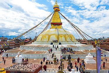 Boudhanath Stupa, largest Asian Stupa, UNESCO World Heritage Site, Kathmandu, Nepal, Asia