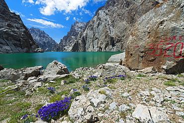 Kel-Suu lake, high altitude lake, Kurumduk valley, Naryn province, Kyrgyzstan, Central Asia, Asia
