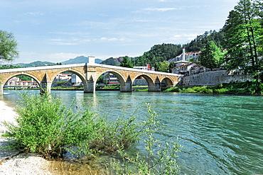 Ottoman bridge in Konjic, Bosnia and Hercegovina, Europe