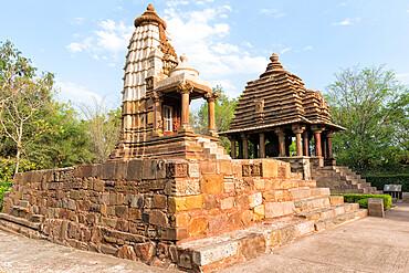 Lakshmi and Varaha Temples, Khajuraho Group of Monuments, UNESCO World Heritage Site, Madhya Pradesh state, India, Asia