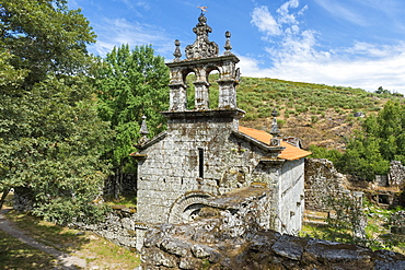 Ruins of the Pitoes Monastery, Church, Pitoes das Junias, Peneda Geres National Park, Minho, Portugal, Europe