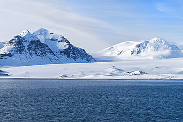 Salisbury Plain under snow, South Georgia, Antarctic, Polar Regions
