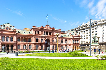 Casa Rosada (Pink House), Residence of the President of the Republic and seat of the government, Buenos Aires, Argentina, South America