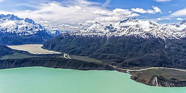 Northern Patagonian Ice Field, aerial view, Laguna San Rafael National Park, Aysen Region, Patagonia, Chile, South America