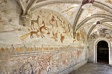 16th-century mural paintings, Casas Pintadas, Evora, Portugal, Europe
