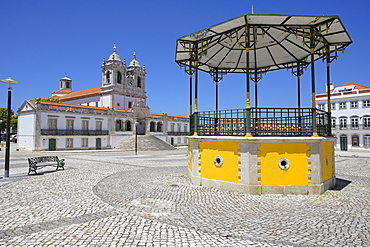 Our Lady of Nazare Church, Largo Nossa Senhora da Nazare, Sitio village, Nazare, Leiria district, Portugal, Europe