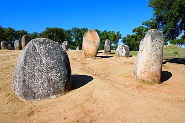 Almendres Cromlech, Megalithic Site, Nossa Senhora de Guadalupe, Valverde, Evora, Alentejo, Portugal