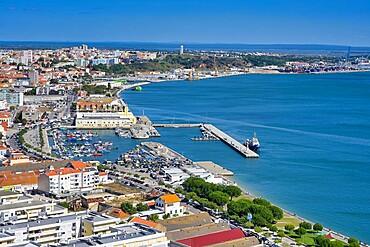 Setubal viewed from Sao Filipe Castle, Setubal, Lisbon Coast, Portugal, Europe