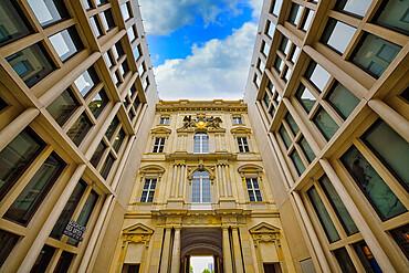Portal in the Passage inner courtyard, The Berlin Palace or Humboldt Forum, Unter den Linden, Berlin, Germany