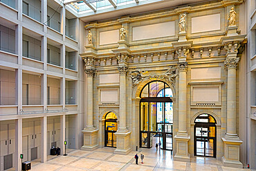 Baroque gate in the Foyer, The Berlin Palace or Humboldt Forum, Unter den Linden, Berlin, Germany
