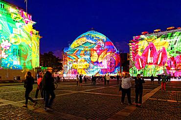 Bebelplatz during the Festival of Lights, Unter den Linden, Berlin, Germany