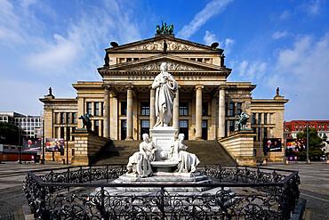 Konzerthaus Berlin Concert Hall and Schiller monument, Gendarmen square, Unter den Linden, Berlin, Germany