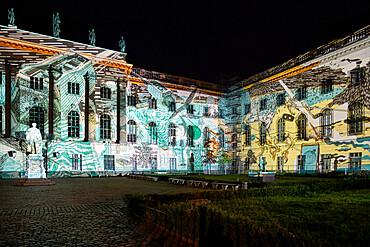 Humboldt University during the Festival of Lights, Unter den Linden, Berlin, Germany