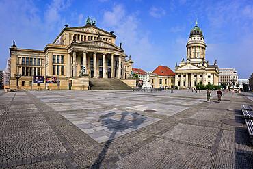 Konzerthaus Berlin Concert Hall and French Cathedral, Gendarmen square, Unter den Linden, Berlin, Germany
