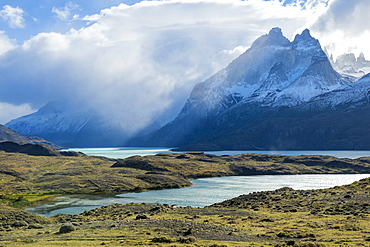 Cloud formations over Lago Nordenskjold, Torres del Paine National Park, Chilean Patagonia, Chile, South America