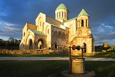 Bagrati Cathedral (Cathedral of the Dormition) (Kutaisi Cathedral) at sunset, UNESCO World Heritage Site, Kutaisi, Imereti Region, Georgia, Caucasus, Asia