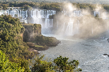 View of the Iguazu Falls from the Brazilian side, UNESCO World Heritage Site, Foz do Iguacu, Parana State, Brazil, South America