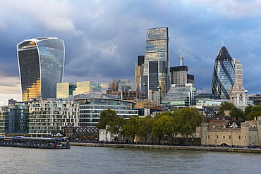View of the Financial District, City of London, London, England, United Kingdom, Europe