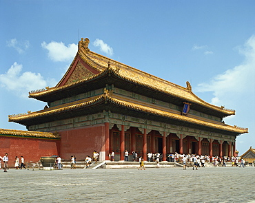 The Gate of Heavenly Purity in the Imperial Palace in the Forbidden City in Beijing, China, Asia