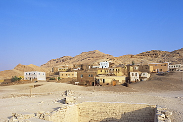 Village in western Thebes, Egypt, North Africa, Africa