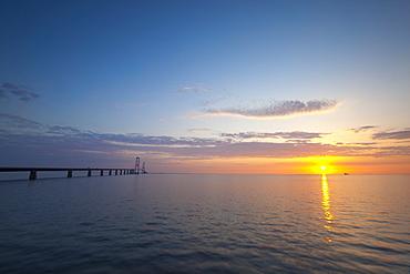 Nyborg-Korsor Bridge, Korsor, Southern Denmark, Denmark, Scandinavia, Europe