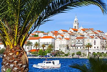 Picturesque Old Town Korcula and harbour, Korcula, Dalmatia, Croatia, Europe - 1158-452