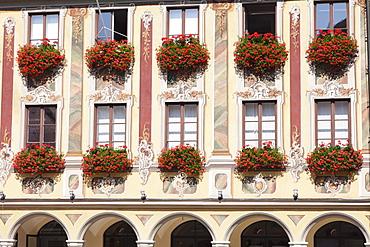 Steuerhaus building at market square, Memmingen, Schwaben, Bavaria, Germany, Europe