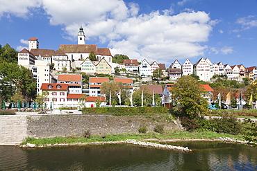 Dominican Monastery and Stiftskirche Heilig Kreuz collegiate church, Horb am Neckar, Black Forest, Baden Wurttemberg, Germany, Europe