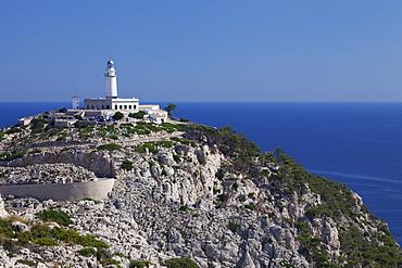 Lighthouse at Cap de Formentor, Majorca (Mallorca), Balearic Islands, Spain, Mediterranean, Europe