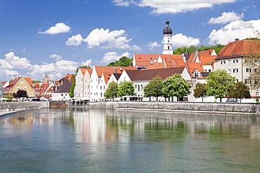 Old town of Landsberg am Lech, Lech River, Bavaria, Germany, Europe