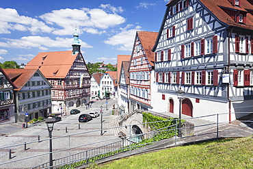 Town Hall at Market Place, Backnang, Swabian Forest, Rems Murr District, Baden Wurttemberg, Germany, Europe