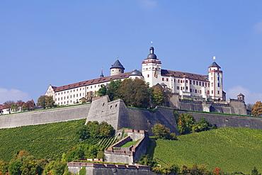 Marienberg Fortress, Wurzburg, Franconia, Bavaria, Germany, Europe