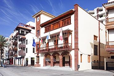 Town Hall at Plaza de las Americas Square, San Sebastian, La Gomera, Canary Islands, Spain, Europe