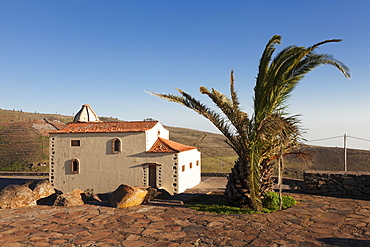 Chapel at the view point of Mirador de Igualero, La Gomera, Canary Islands, Spain, Europe
