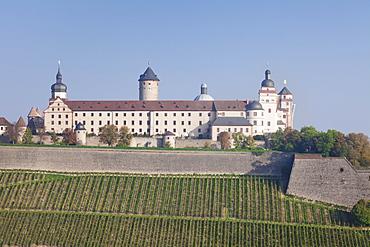 Marienberg Fortress, Wuerzburg, Franconia, Bavaria, Germany, Europe
