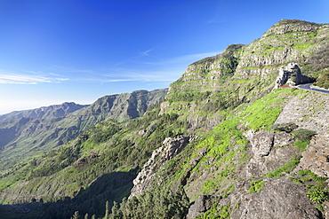 Mirador de Roques, Degollada de Agando, La Gomera, Canary Islands, Spain, Europe