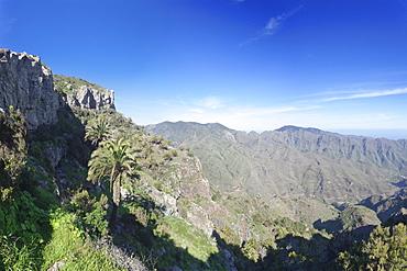 Degollada de Pereza y San Sebastian viewing point, Garajonay Parque National, near San Sebastian, La Gomera, Canary Islands, Spain, Europe