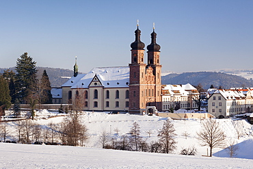 Abbey of St. Peter (Sankt Peter), Glottertal Valley, Black Forest, Baden-Wuerttemberg, Germany, Europe