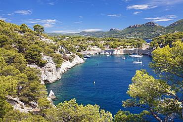 Les Calanques de Port-Miou, National Park Calanque de Port-Pin, Cassis, Provence, Provence-Alpes-Cote d'Azur, Southern France, France, Mediterranean, Europe